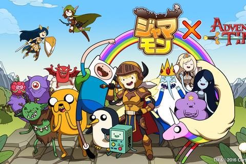 スマートフォン向けパズルRPG『ジャマモン』がアニメーション『アドベンチャー・タイム』とコラボレーション!
