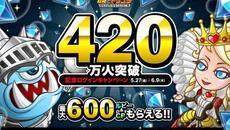 リアルタイム対戦ストラテジー『城とドラゴン』が「420万人突破記念ログインキャンペーン」を開催!