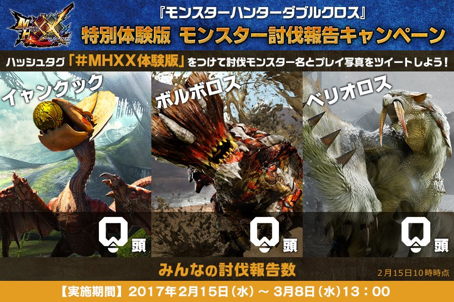 『モンハンXX』 ダウンロード無料の特別体験版が本日2/15(水)より配信開始!