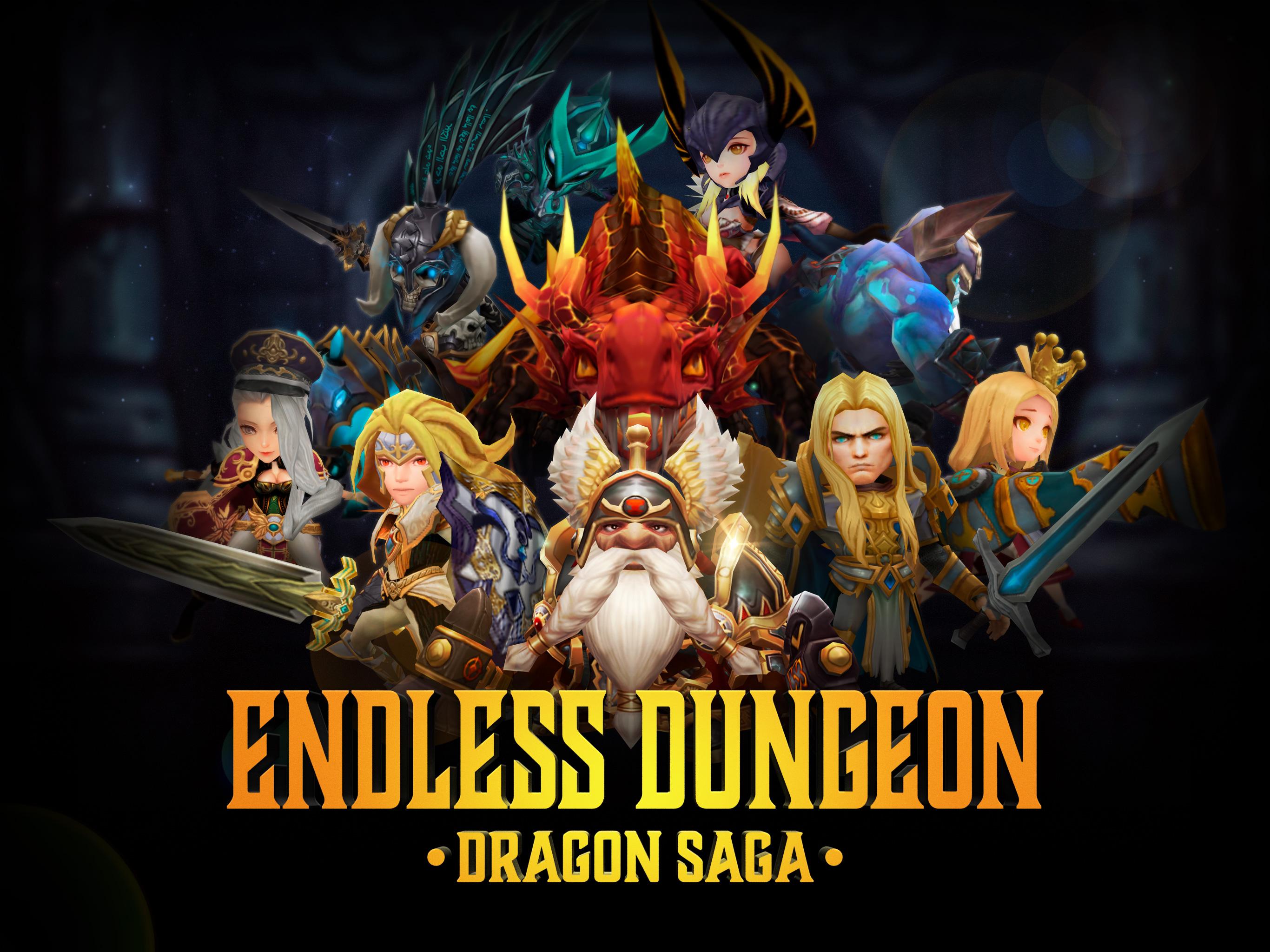 『エンドレスダンジョン:ドラゴンサーガ』Google Play版が正式リリース!