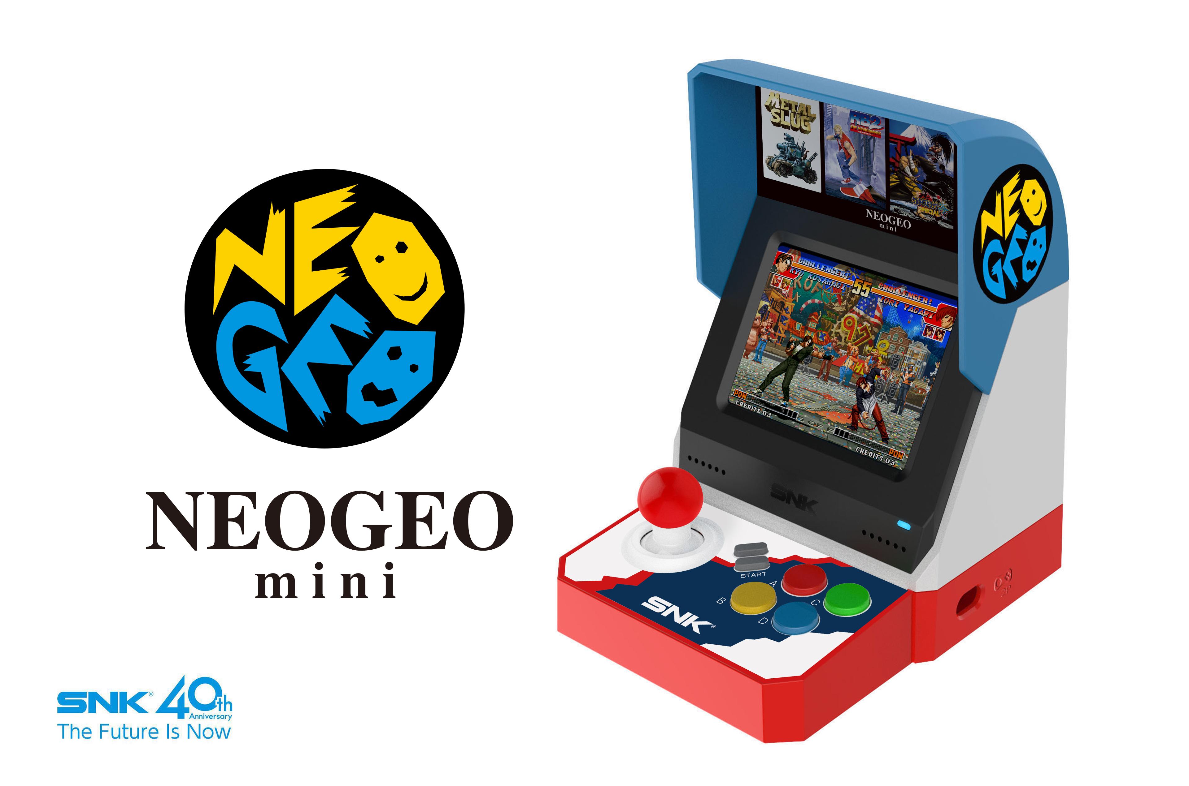「NEOGEO mini」SNKブランド40周年を記念したゲーム機が登場!