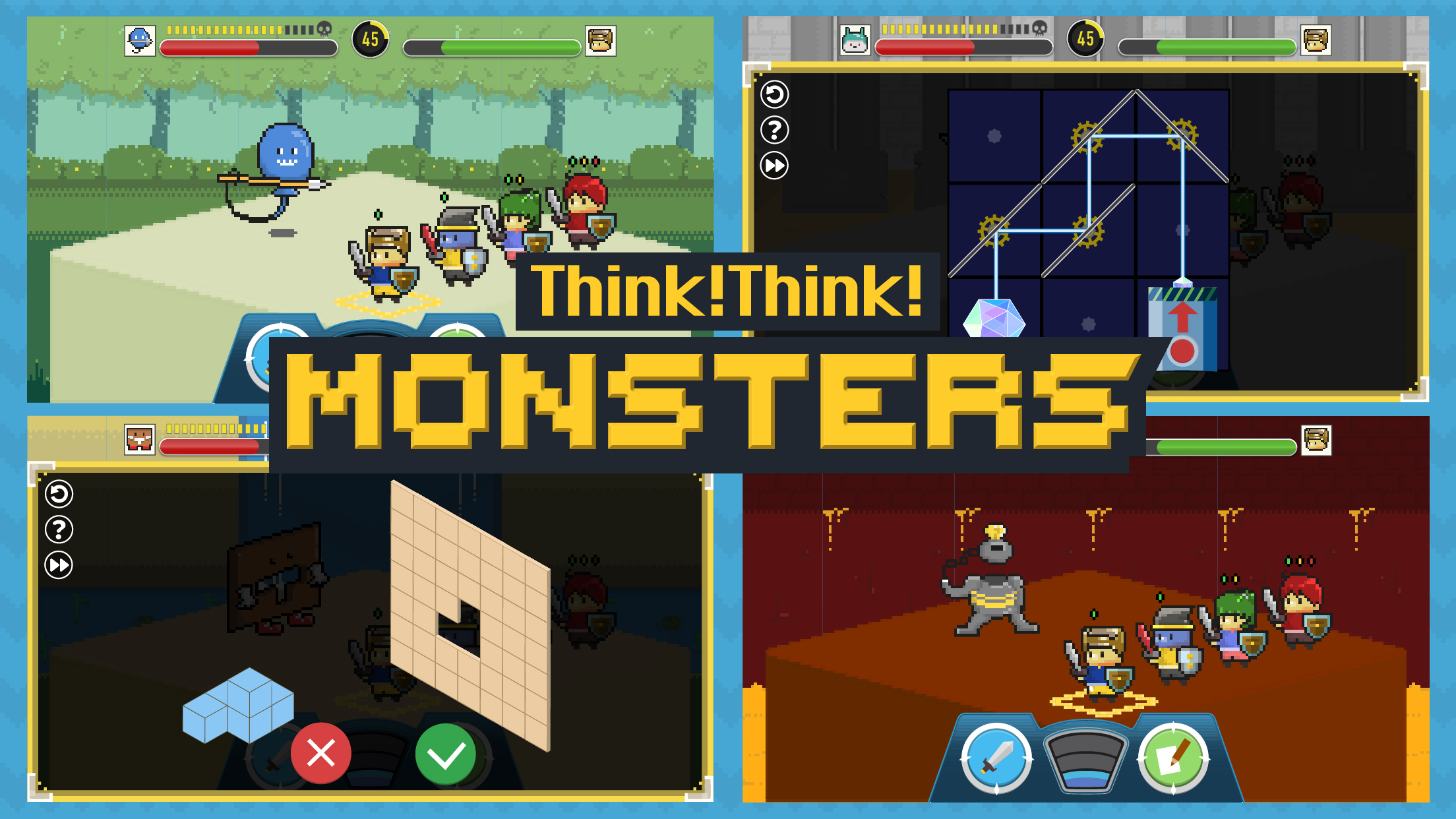 『Think!Think! Monsters』iOS/Androidで配信開始!