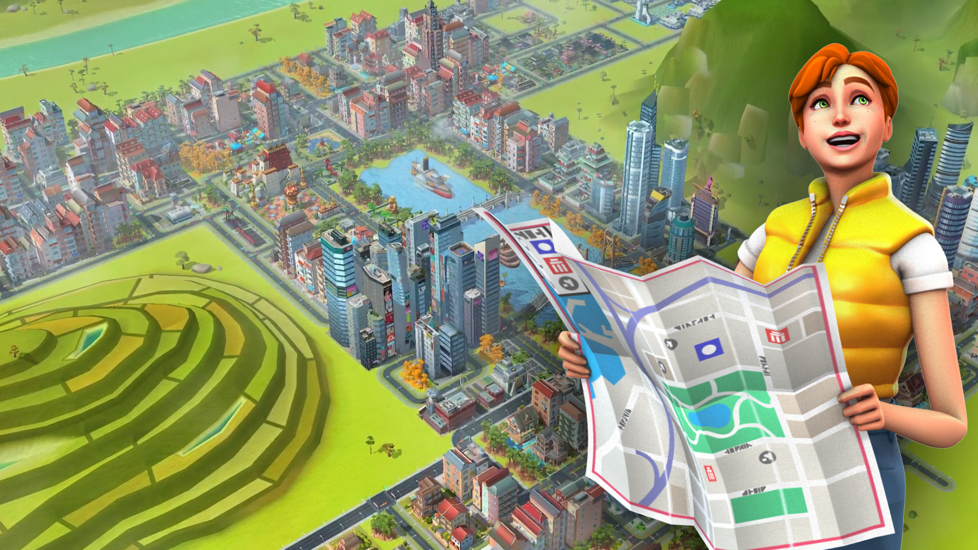 『シムシティ ビルドイット』新マップが登場する大幅アップデートを実施!
