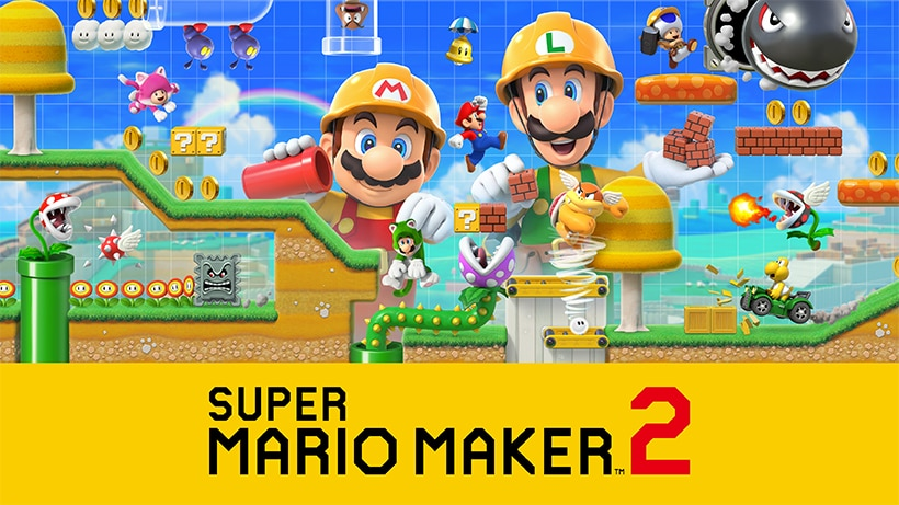 『スーパーマリオメーカー 2』発売日が6/28に決定&予約を開始!