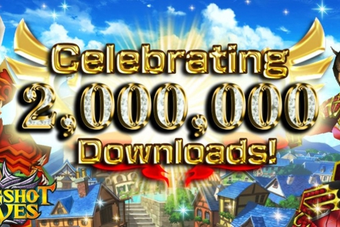 ひっぱりアクションRPG『スリングショットブレイブズ』累計200万ダウンロードを突破!!