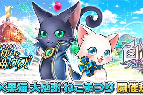 コロプラ、アプリ相互コラボレーション企画「白猫×黒猫 大感謝ねこまつり」を開催!